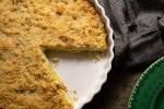 Tarte aux poireaux et crumble de Parmesan