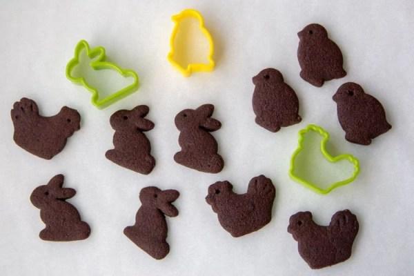 Sablés de Pâques au cacao
