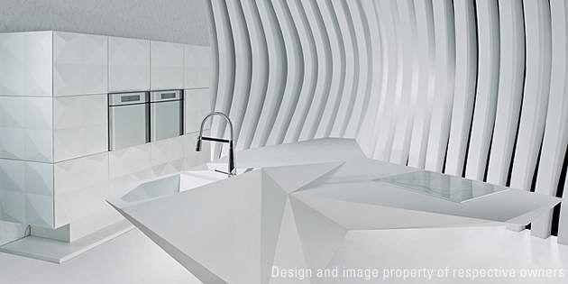 Cucina Origami di Amr Helmy Designs, design Karim Rashid; foto Amr Helmy Designs