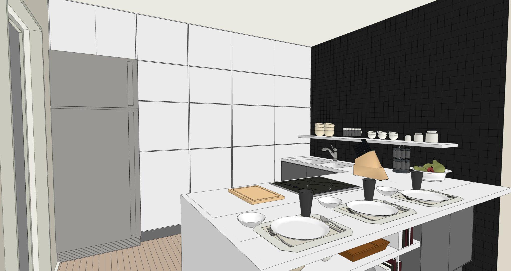 Una cucina senza pensili lineatre arredamenti - Pensili sopra letto ...