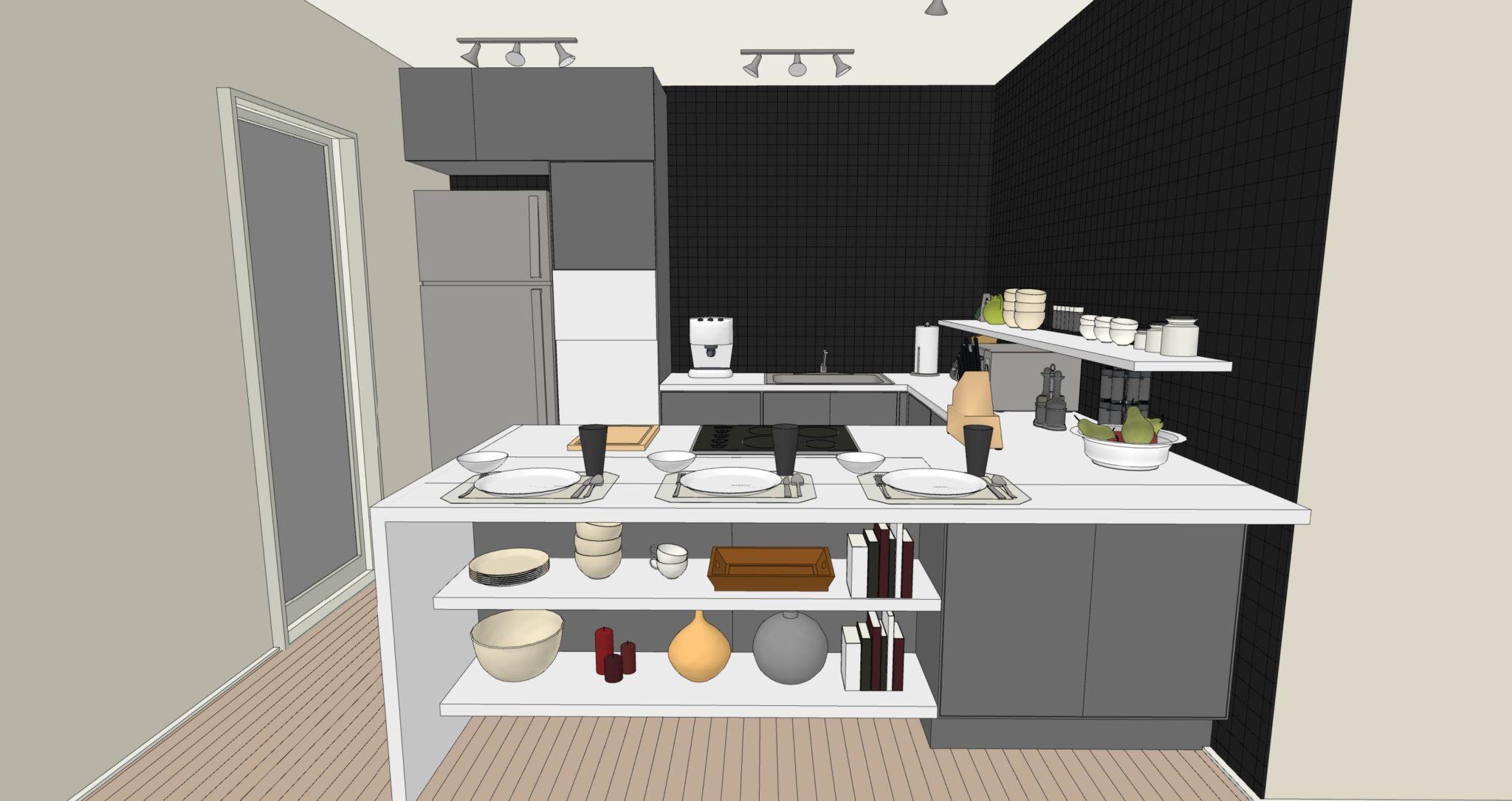 Pensili cucina in muratura idee per la decorazione di for Pensili cucina in muratura