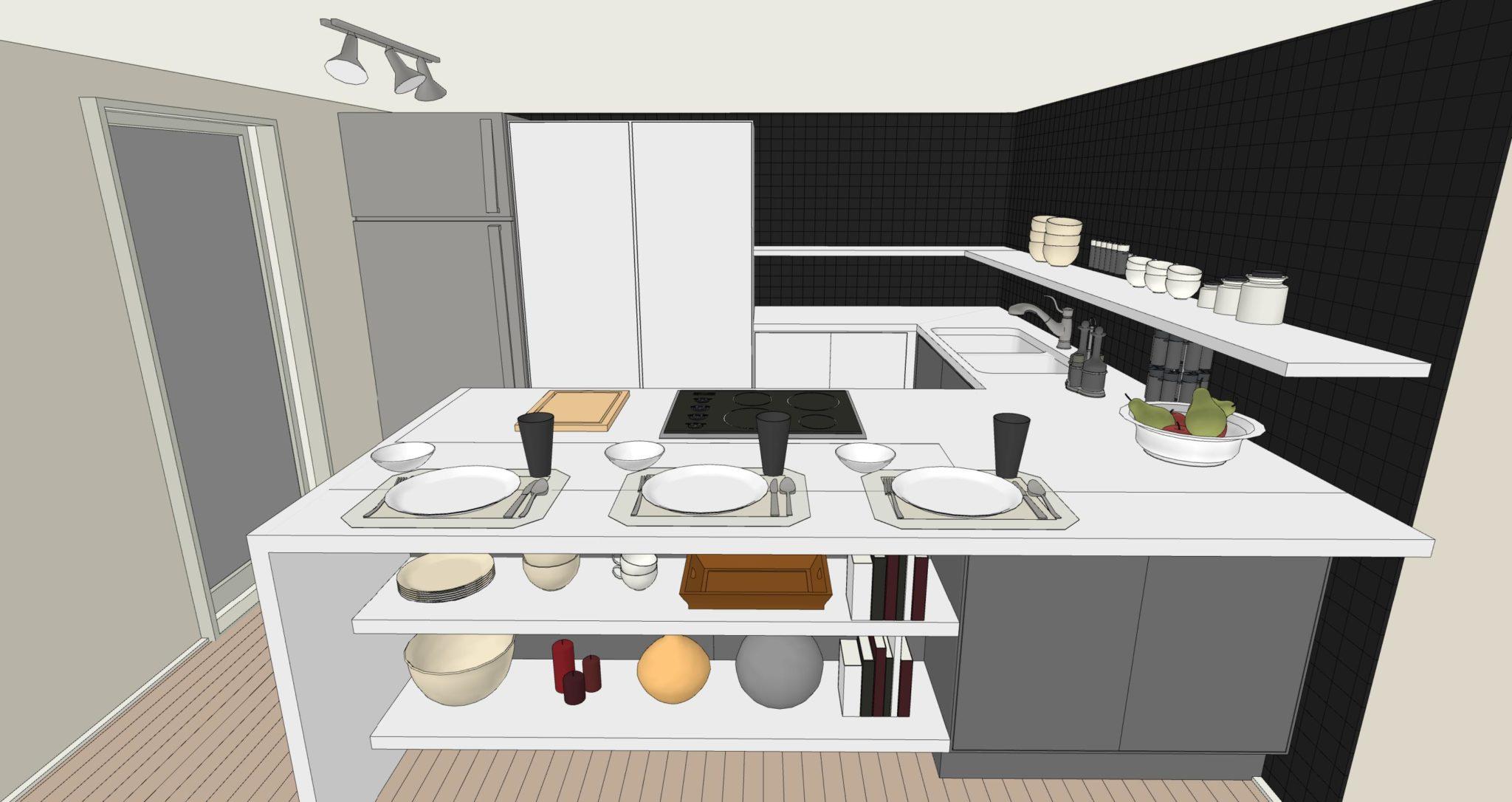 Una cucina senza pensili lineatre arredamenti - Cucina senza piastrelle ...