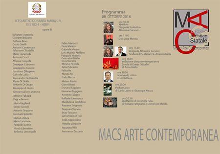 MACS arte contemporanea -Apertura sabato 8 ottobre della nuova sede del Museo Macs a Santa Maria Capua Vetere, Caserta in Vico II Napoli, (Italia)