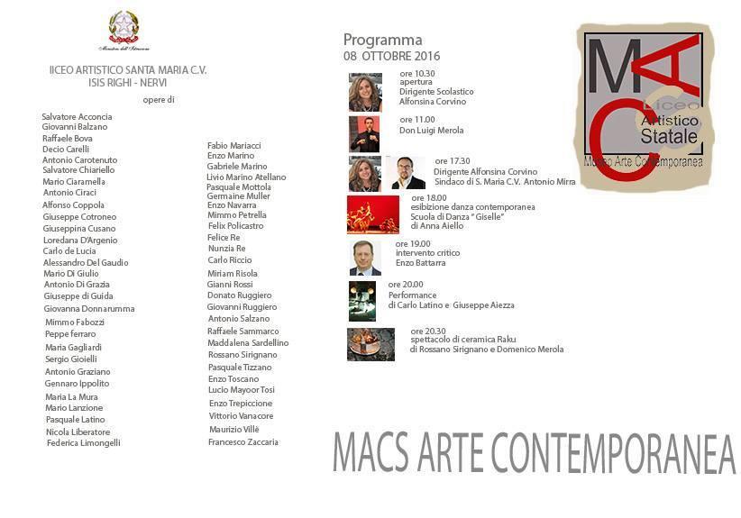 Inaugurazione MACS - un Museo a scuola - per la prima volta, un Museo di Arte contemporanea troverà la sua ubicazione in una scuola