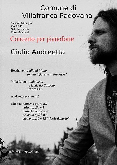 Concerto pianistico di Giulio Andreetta