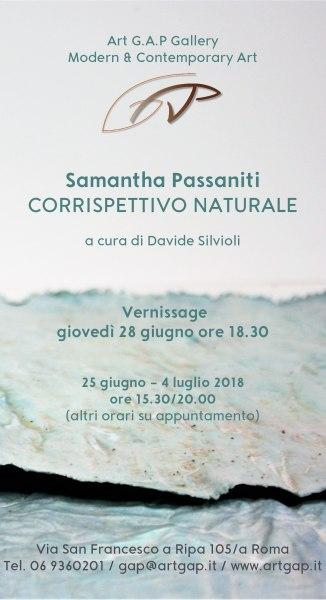 Corrispettivo Naturale, opere di Samantha Passaniti. a cura di Davide Silvioli