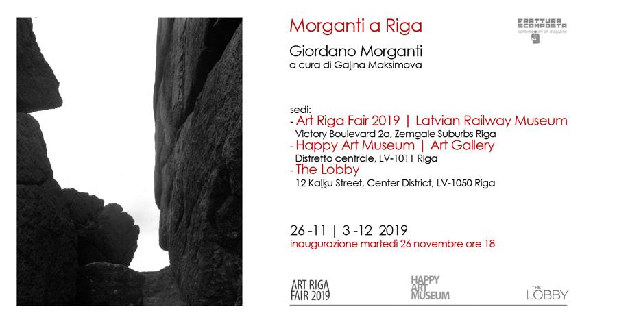 Morganti a Riga - dal 26 novembre 2019 Giordano Morganti nella capitale Lettone