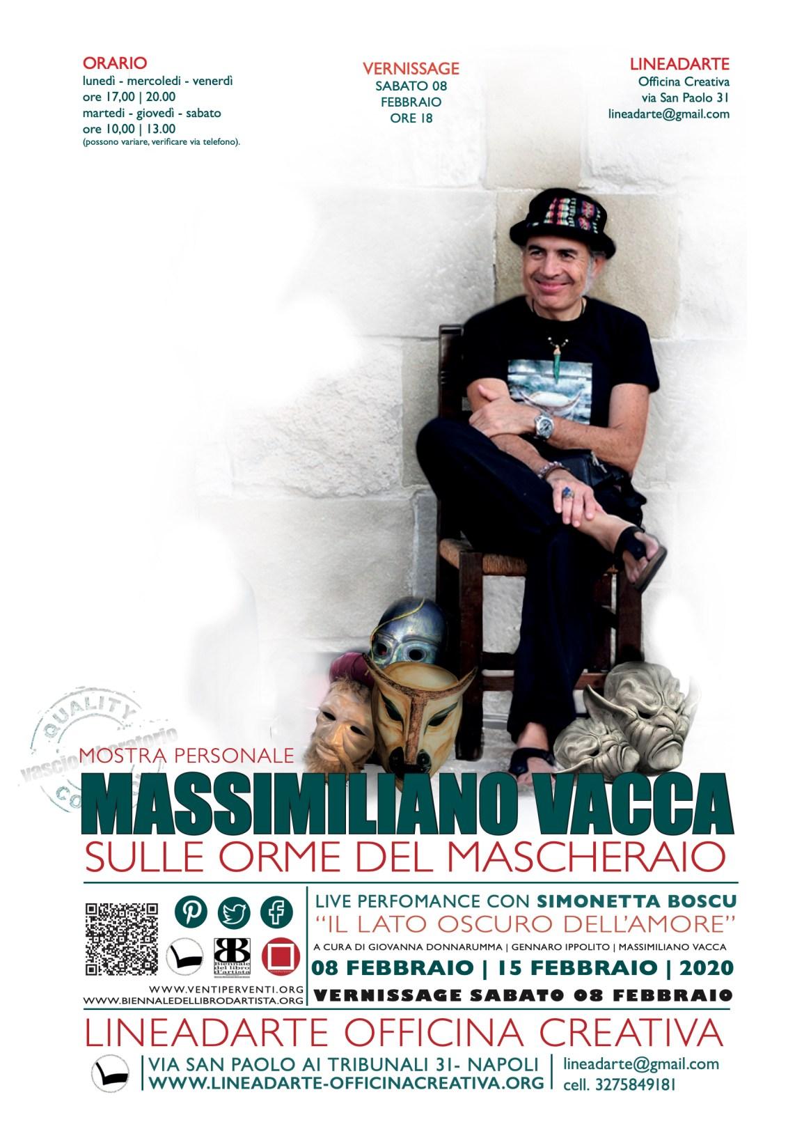 Sulle orme del mascheraio – mostra personale di Massimiliano Vacca