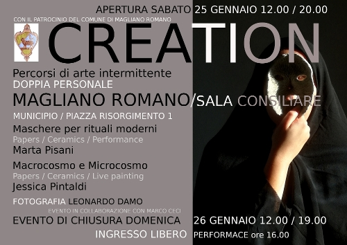 CREATION mostra di arte contemporanea itinerante con il patrocinio del Comune di Magliano Romano
