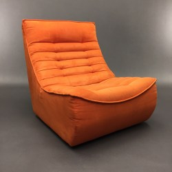 Chauffeuse Foxtrot orange Bernard Masson Calia Italia