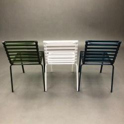 Lot de 3 chaises Striped Ronan & Erwan Bouroullec Magis
