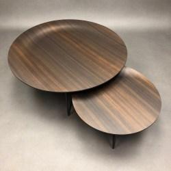 Lot de 2 tables basses Trevi Matteo Nunziati Molteni & C