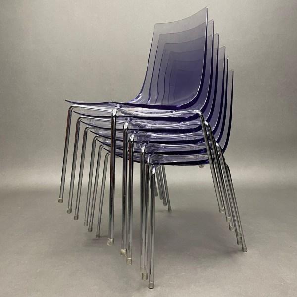 Lot de 6 chaises Slim Roberto Foschia Softline