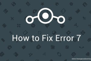 fix error 7 lineage os