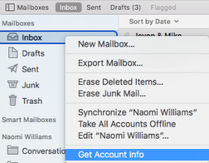 Mac Mail out of office