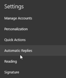 windows 10 mail app settings