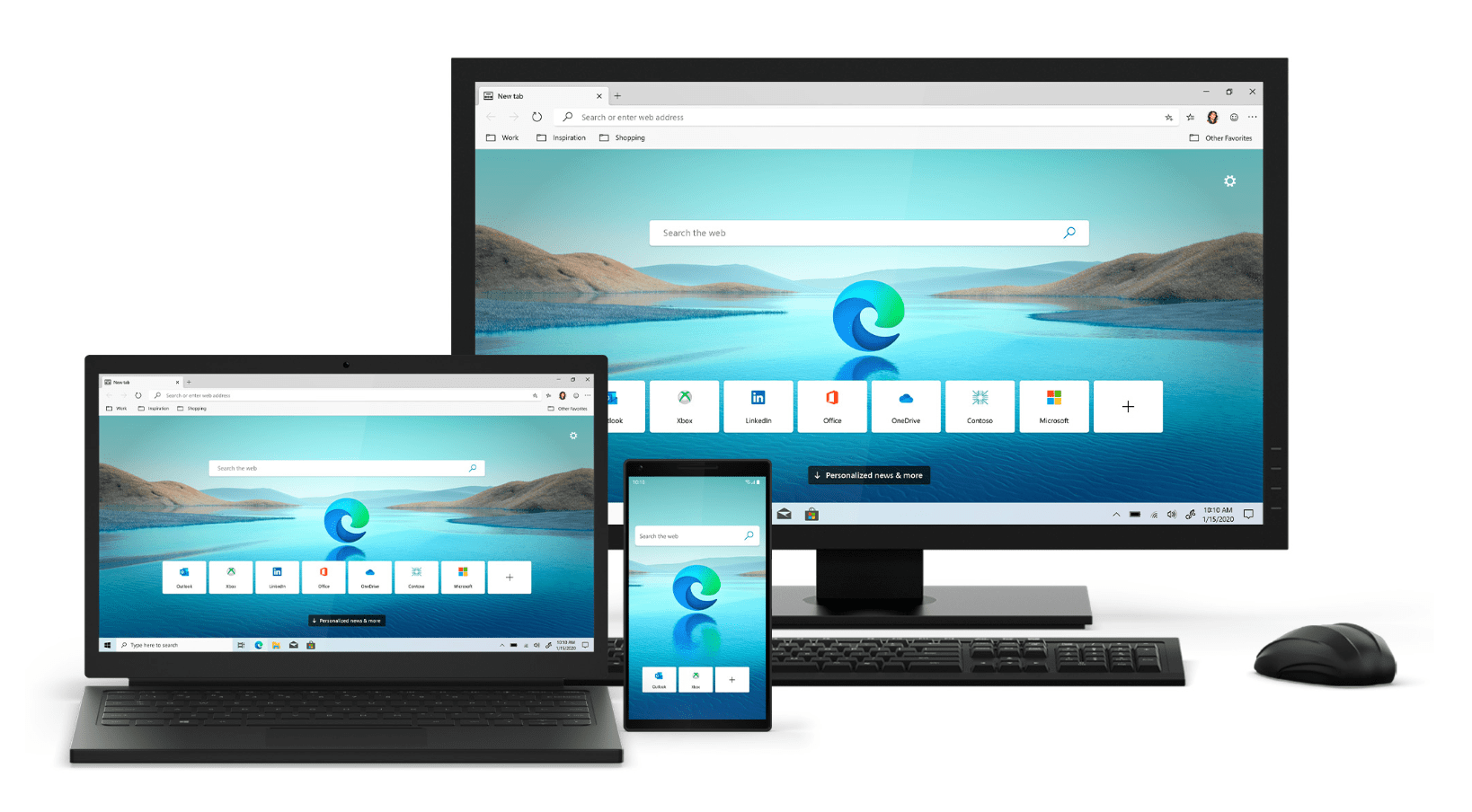 edge on different devices