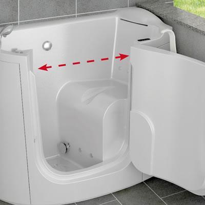 Vasche da bagno per disabili con sportello o porta laterale apribile