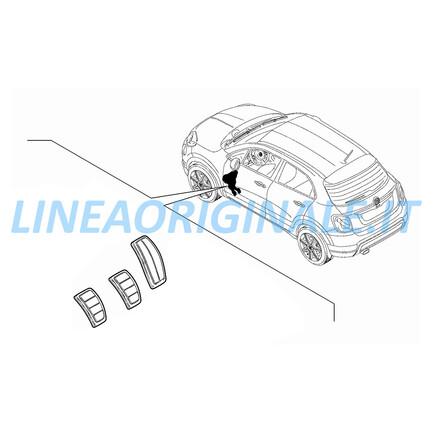 Pedaliera Sportiva Originale Fiat 500X Cambio Manuale