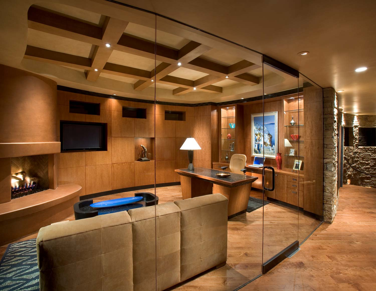 Home Offices Gallery  Linear Fine Woodworking  Phoenix AZ