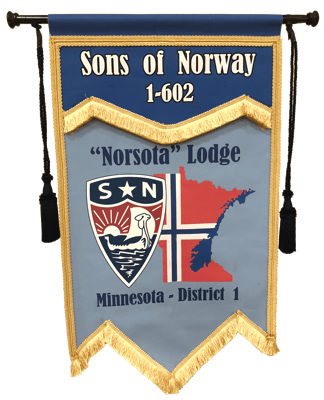 "Sons of Norway ""Norsota"" Lodge Flag"