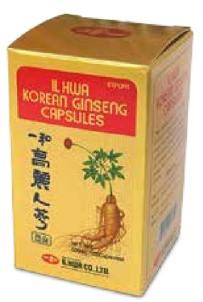 ginseng coreano en tarro de 100 cap.