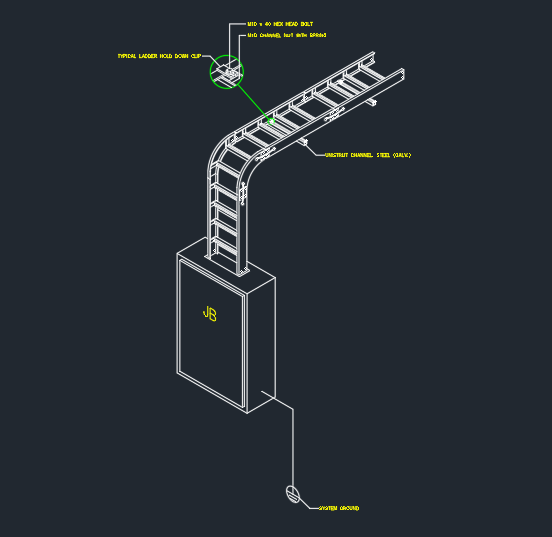 Cable Tray Installation Cad Block And Typical Drawing