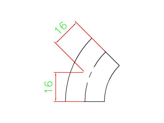 Elbow 45 1/2 Inch