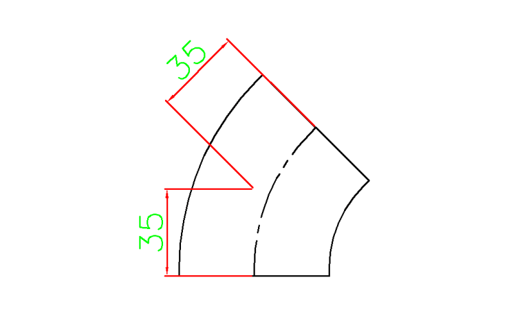 Elbow | CAD Block And Typical Drawing For Designers