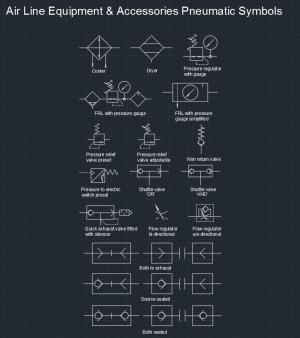 Air Line Equipment & Accessories Pneumatic Symbols | | Free CAD Blocks And CAD Drawing