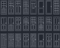 Door Blocks & Tempered Glass Door Cad Blocks