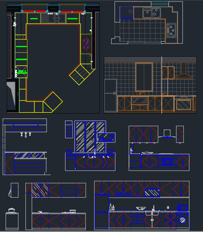 Kitchen Elevation Cad Blocks Free Cad Block And