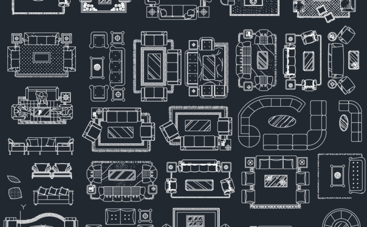 Furniture Sets Free Cad Block And Autocad Drawing
