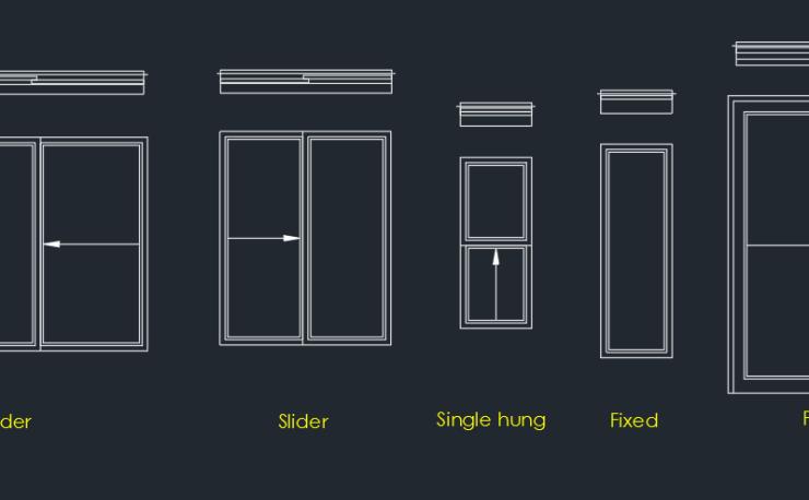Window cad home design for Window design cad