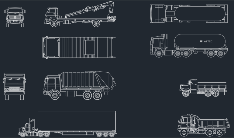 Trucks CAD Blocks