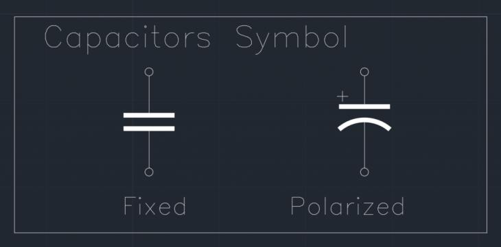 Capacitors Symbol