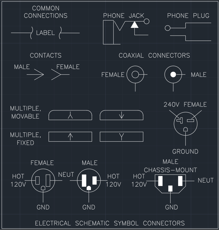 Electrical Schematic Symbol Connectors