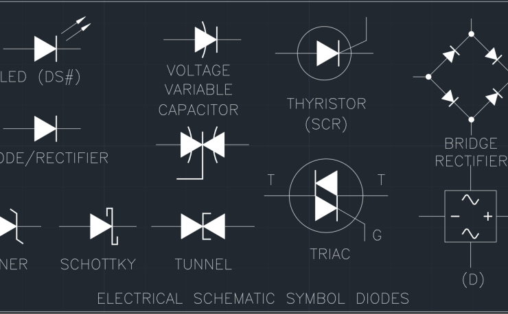 Rectifier Autocad Free Cad Block Symbol And Cad Drawing