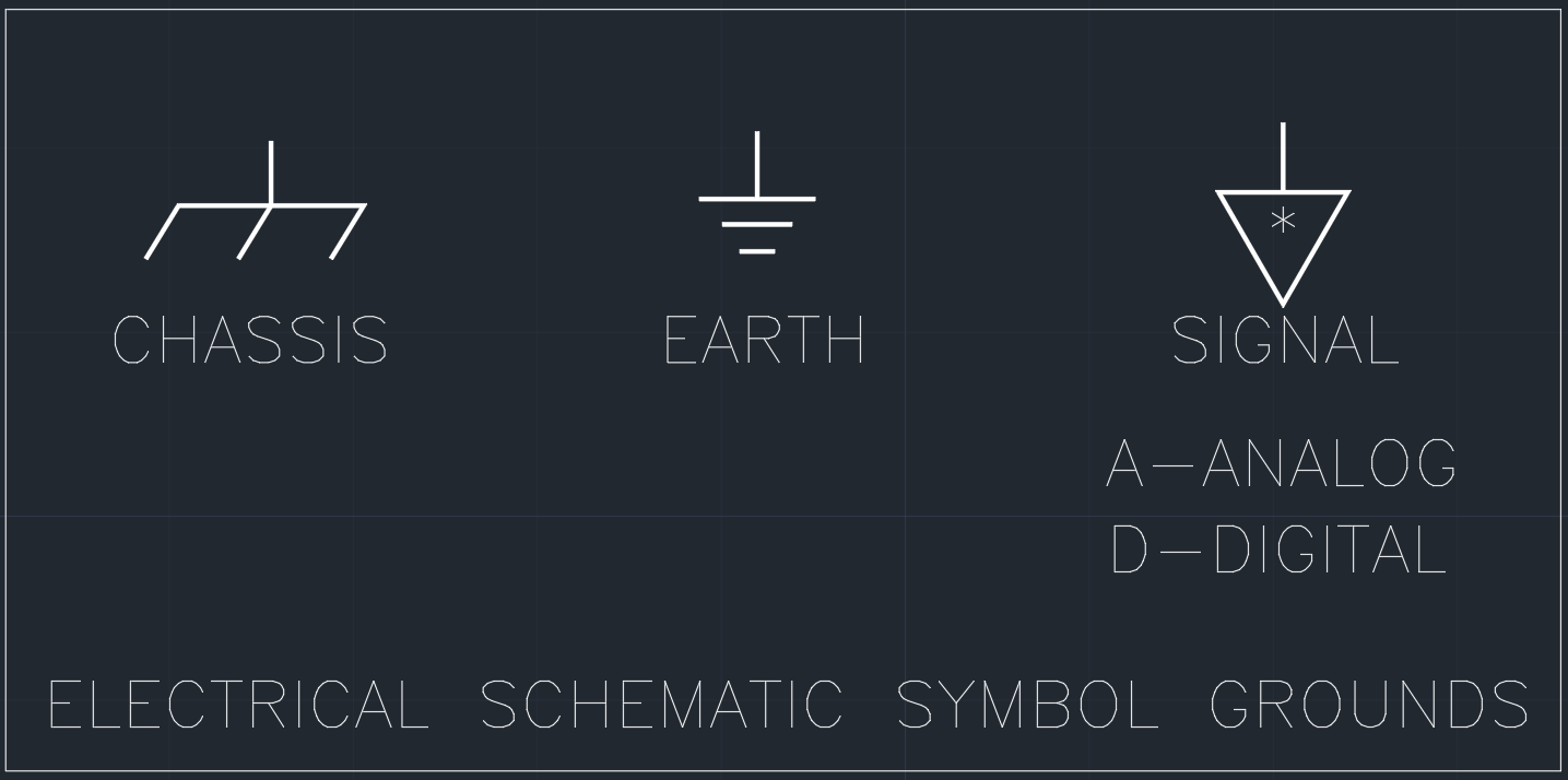 Electrical Schematic Symbol Grounds | | Free CAD Blocks And CAD Drawing