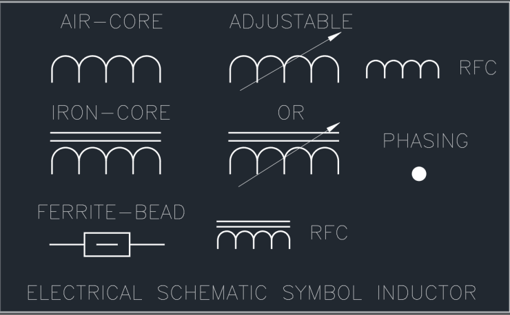 Electrical Schematic Symbol Inductor