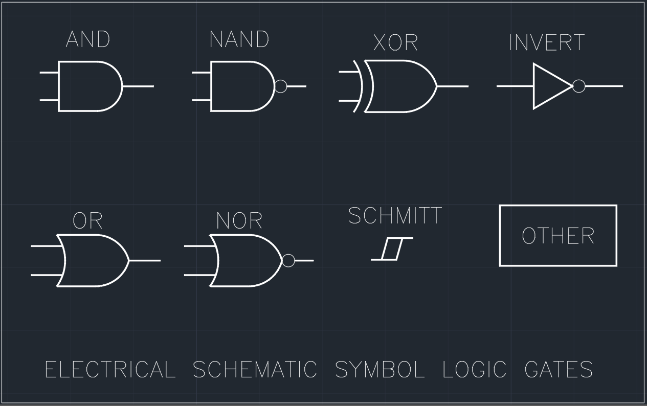 electrical schematic symbol logic gates free cad