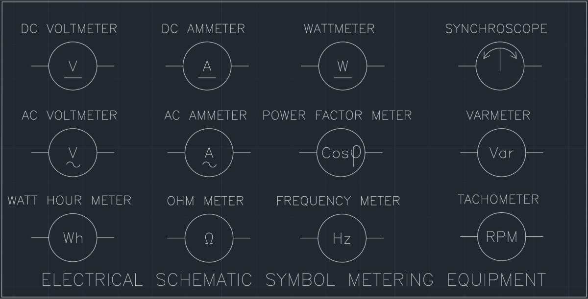 Electrical Schematic Symbol Metering Equipment | | AutoCAD Free CAD ...