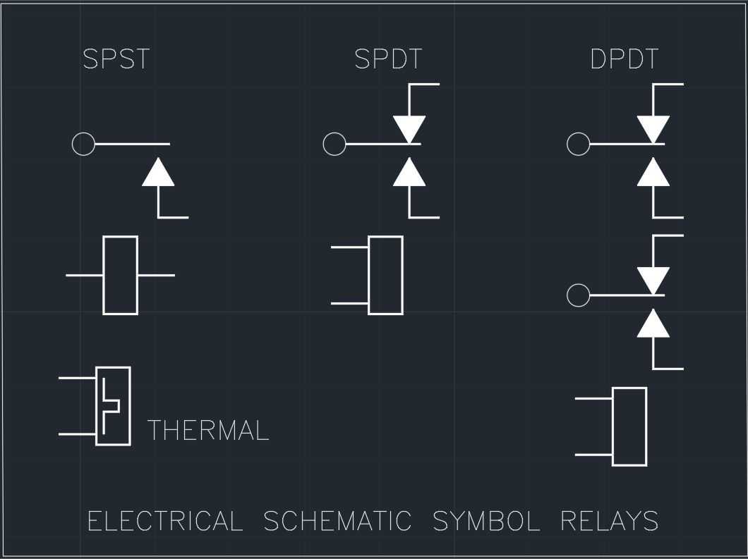 electrical schematic symbol relays autocad free cad block symbol rh linecad com  electrical schematic symbols switches