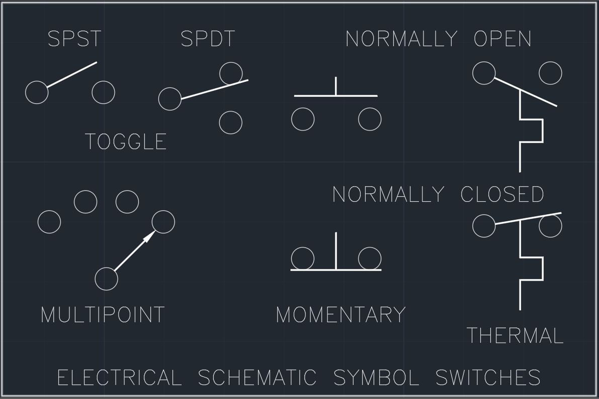 Electrical Schematic Symbol Switches | | Free CAD Blocks And CAD Drawing