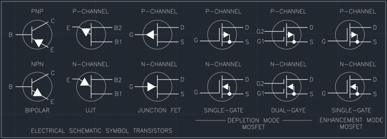 Electrical Schematic Symbol Transistors
