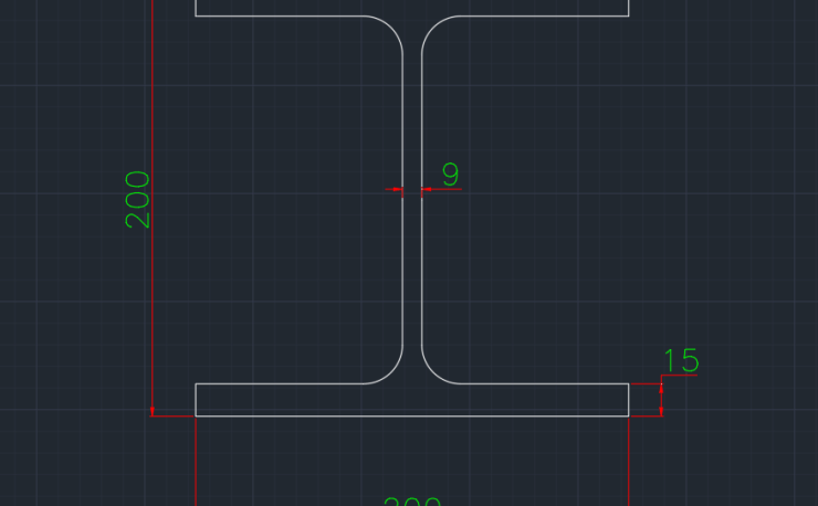 Wide Flange German (IPB) In dwg file format for AutoCAD and other 2D Software