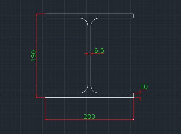 Wide Flange German (IPBI) In dwg file format for AutoCAD and other 2D Software