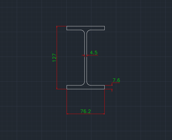 Wide Flange South African (IT) In dwg file format for AutoCAD and other 2D Software