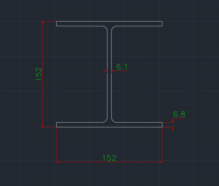 Wide Flange Australian (UC) In dwg file format for AutoCAD and other 2D Software