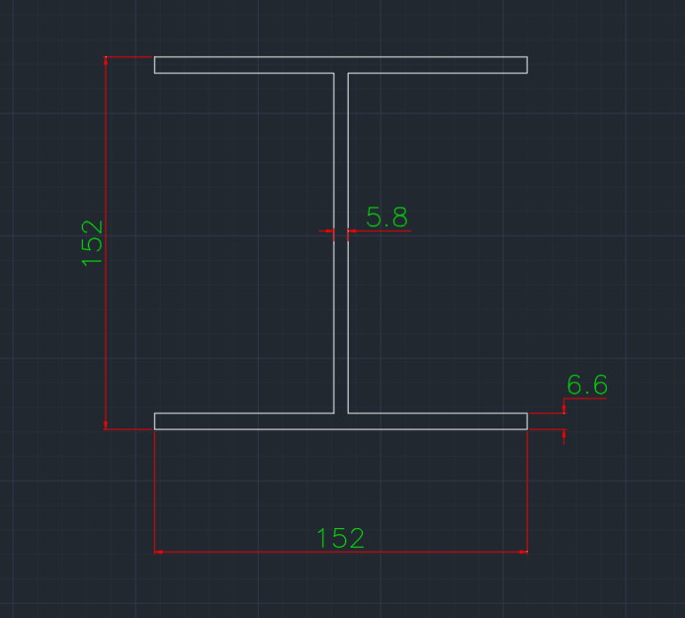 Wide Flange Canadian (W) In dwg file format for AutoCAD and other 2D Software